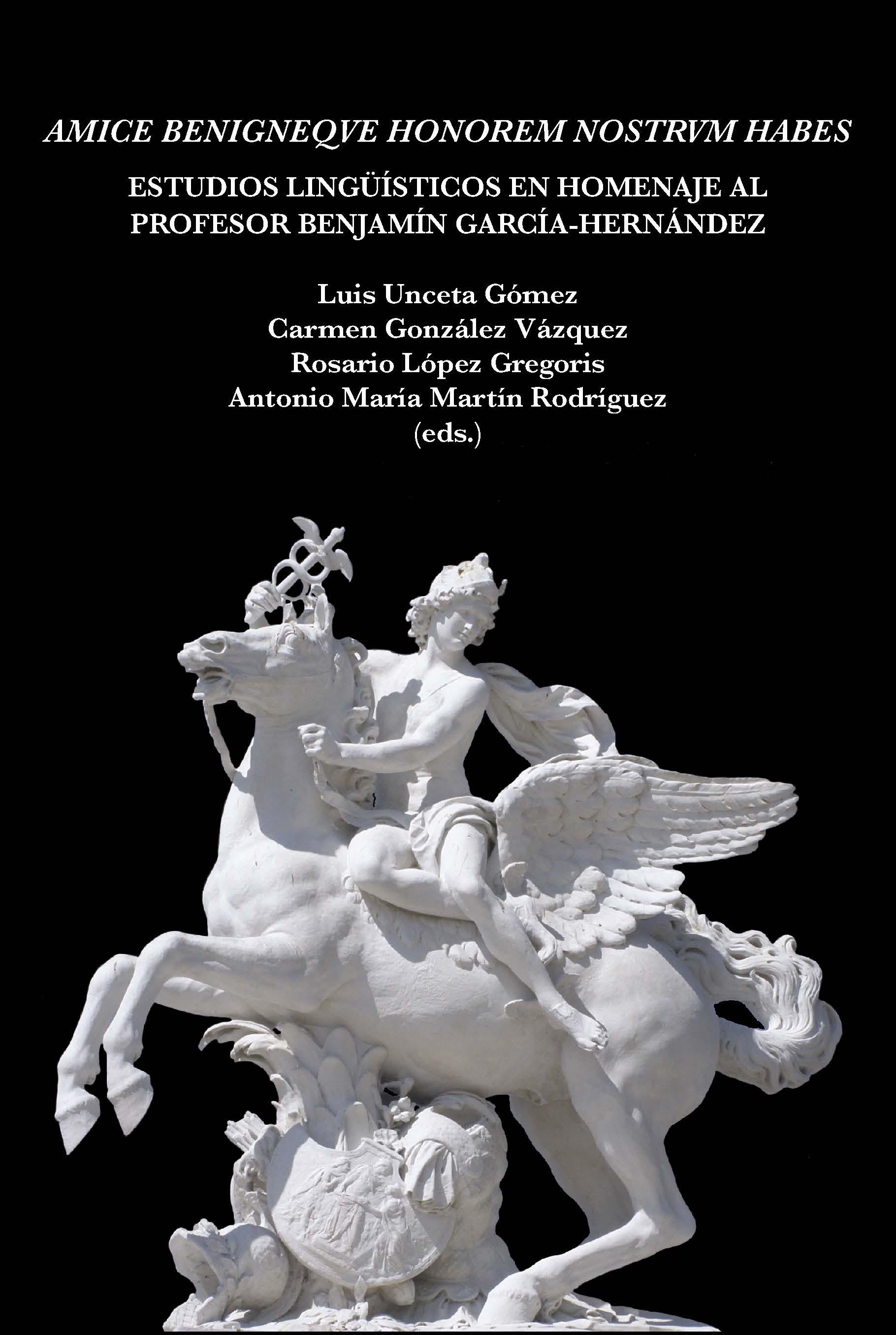 Portada del libro Estudios Lingüísticos en homenaje al profesor Benjamín García-Hernández