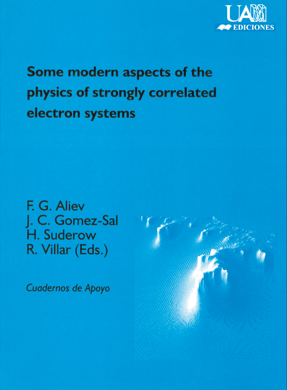 Portada de Some modern aspects of the physics of strongly correlated electron systems